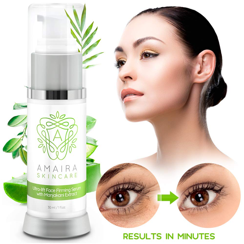 Amaira Face Firming Serum - Instant Facial, Neck, Chest and Skin Tightening and Lifting Crepey Skin - Anti Wrinkle and Aging, Day & Night Serum, Cream Alternative by Amaira Natural Skincare