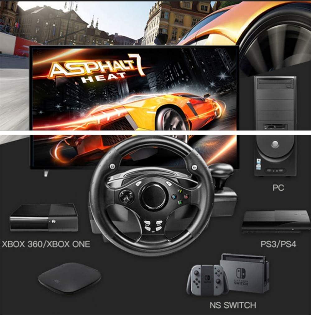 YWT Juego Volante Dual Motor Deportes Rueda de Carreras 270 Grados, con Palanca de Cambios, para PS3 / PS4 / Xbox One/Xbox 360 / NS Switch/PC/Android: Amazon.es: Hogar
