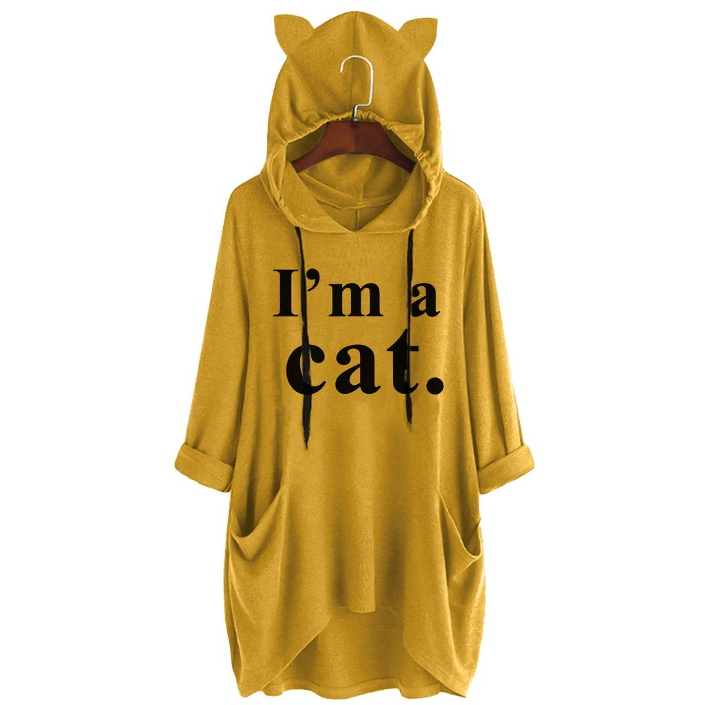 Goosuny Robe Pull Femme Hiver Sweat-Shirts /à Manches Longues Sweat /à Capuche Fille Sweatshirt D/écontract/ée Hooded Manteau Swag Tops Coton Hoodie Sport Veste Robes Pulls Automne