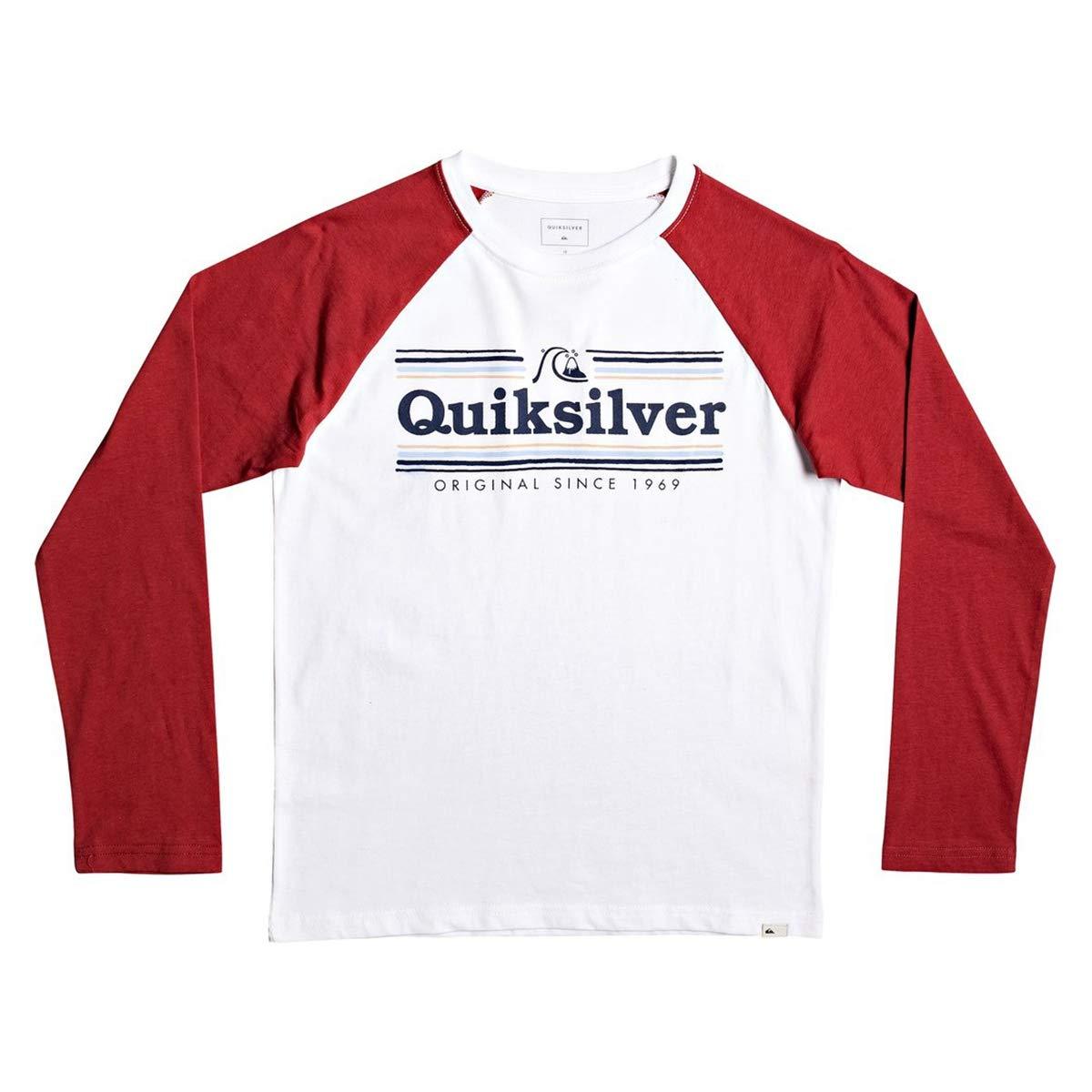 Long Sleeve T-shirt for Boys 8-16 Screen Tee Quiksilver Get Buzzy