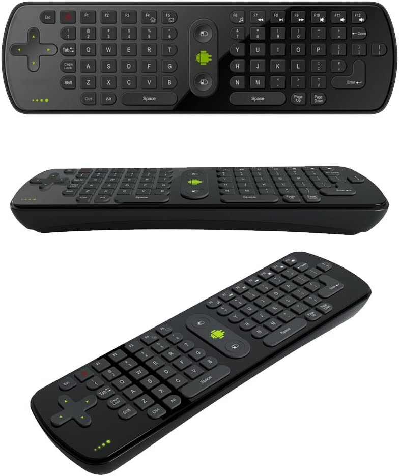 Mini Handheld 2.4G Wireless Gyroscope Air Mouse Keyboard Remote Control for PC Notebook Android TV Box Black