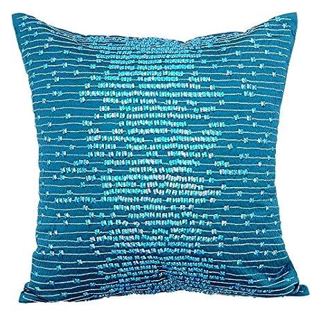 Diseñador Azul cojines para sofas, Moderno A rayas fundas ...