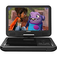 """SYNAGY 12"""" Portable DVD Player with 10.1"""" Swivel Screen Remote Control Rechargeable Battery Car Charger Wall Charger, Personal DVD Player(Black)"""