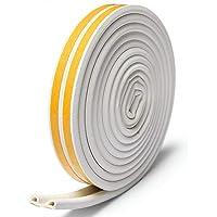 Sinzau Afdichtingstape, voor deuren en ramen, totaal 10 m, afdichting van rubber, beschermt tegen koude tocht, lawaai (D…