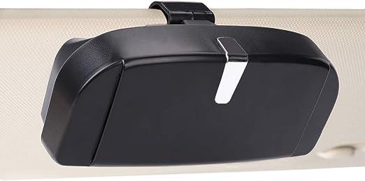 Mengh Shop Auto Brillenetui Universal Brillen Aufbewahrungsbox Mit Magnetischem Funktion Und Karteneinschub Multifunktionale Auto Brillenbox Für Auto Sonnenblende Schwarz Auto