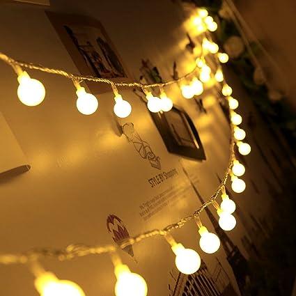 Bever Guirnaldas Blancas de Luz Impermeable 50 Bombillas de cálida Luces de LED del Efecto Estrellado