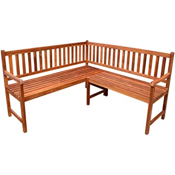 VidaXL Garden Patio Corner Bench Seating Outdoor Furniture Acacia Wood With  Oil Finish