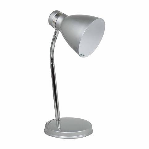 Status 60 Watt Madrid Flexi Desk Lamp, Silver: Amazon.co.uk: Lighting
