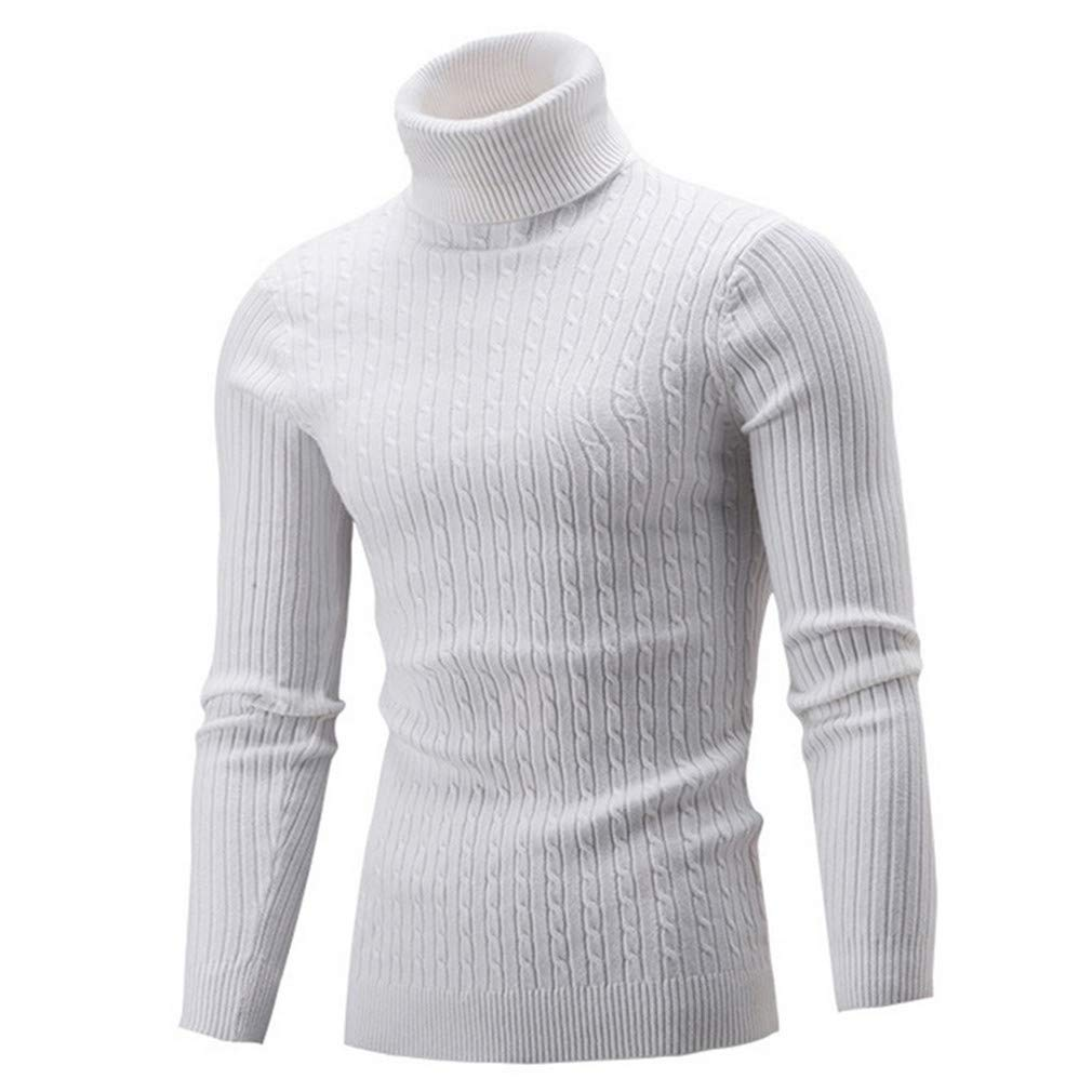 IOODO Mens Sweater Knitted Pullovers