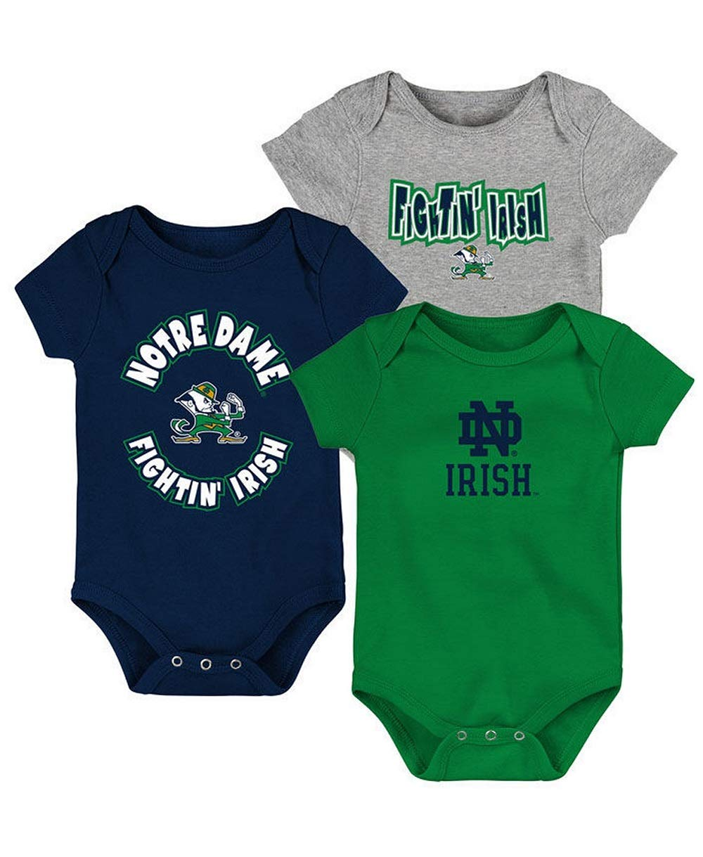 Outerstuff Baby Notre Dame Fighting Irish Everyday Fan 3 Piece Creeper Set