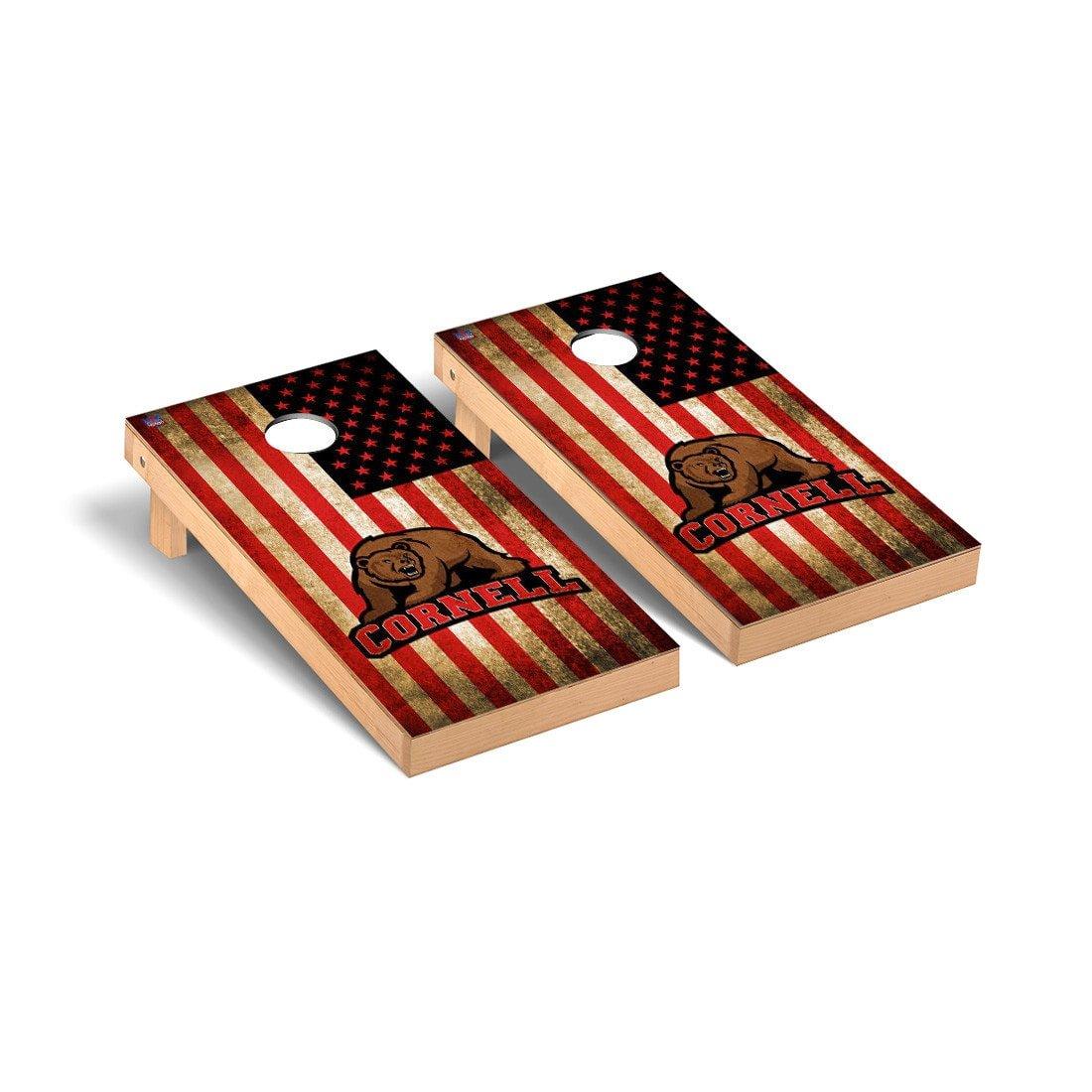 Cornell Big Red Regulation Cornhole Game Set Vintage Flag Version