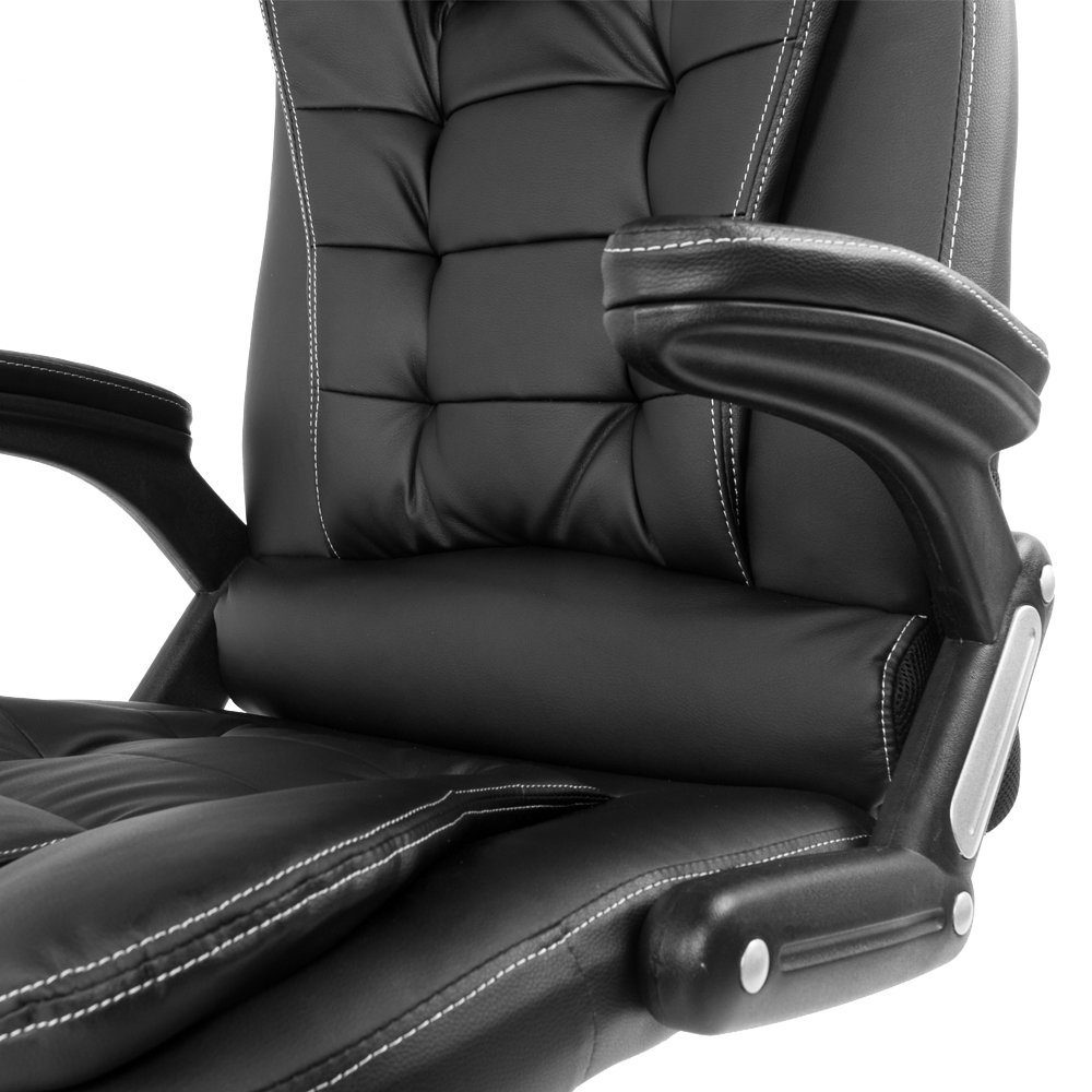 recliner office heat chair ochair point wh var massage m executive leather computer itm pu racing