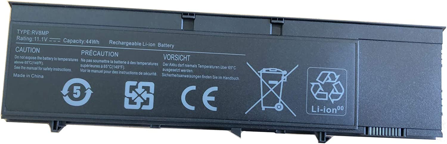 Aluo RV8MP 11.1V 44Wh New Battery for Dell Latitude XT3 Tablet PC Laptop H6T9R 1NP0F 37HGH
