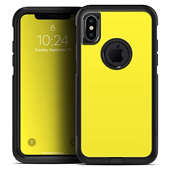 brand new 79fb9 cc973 Amazon.com: Solid Yellow - Skin Decal Kit for The iPhone XR OtterBox ...