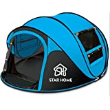 SKYLINK Pop Up Automatic Tent for Camping 4 Person Outdoor Instant Tent Family Pop Up Tent for Beach Cabana