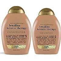 OGX Brazilian Keratin Defrizzant Shampoo & Conditioner 385ml