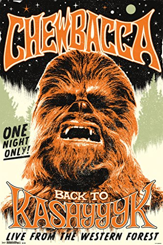 Star Wars Chewbacca Back To Kashyyyk Movie Poster 24x36