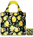 LOQI Juicy Lemons Reusable Shopping Bag, Yellow