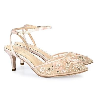 6975491f368 Bella Belle Low Heel Wedding ROS Blush 7