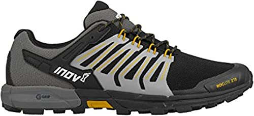 Inov8 Mens Roclite 275 Trail Running Shoes Trainers Sneakers Black Grey Yellow