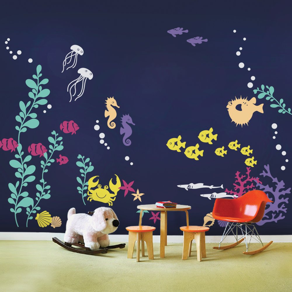 Superb Amazon.com: Under The Sea Wall Decals   Scheme A   By Simple Shapes:  Kitchen U0026 Dining Part 13