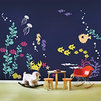 Simple Shapes Under The Sea Wall Decals Scheme A Amazoncom