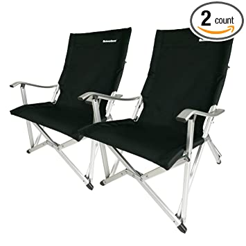 Best of waySports Aluminum Frame Camping Chair Lightweight Foldable Portable for Camping 2 Pack in Black Contemporary - Fresh folding camping chairs in a bag Luxury