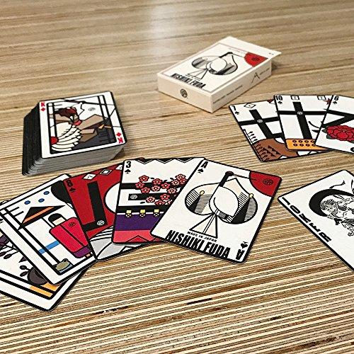 錦札 - トランプ、花札、株札にもなる一石三鳥プレイングカード(紙製)56枚入り