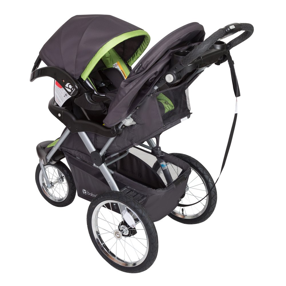 Baby Trend Expedition GLX Jogger Travel System, Flex Loc 32lb Car Seat, Peridot by Baby Trend (Image #3)