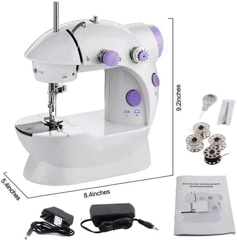 ZIJIAGE Mini máquinas de Coser portátiles de Mano Puntada Coser Costura Ropa inalámbrica Telas Máquina de Coser eléctrica: Amazon.es: Hogar