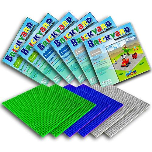 [Improved Design] 6 Baseplates, 10 x 10 Large Thick Base ...