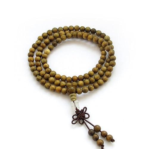 6mm Tibetan Buddhist 108 Sandalwood Beads Prayer Mala Necklace