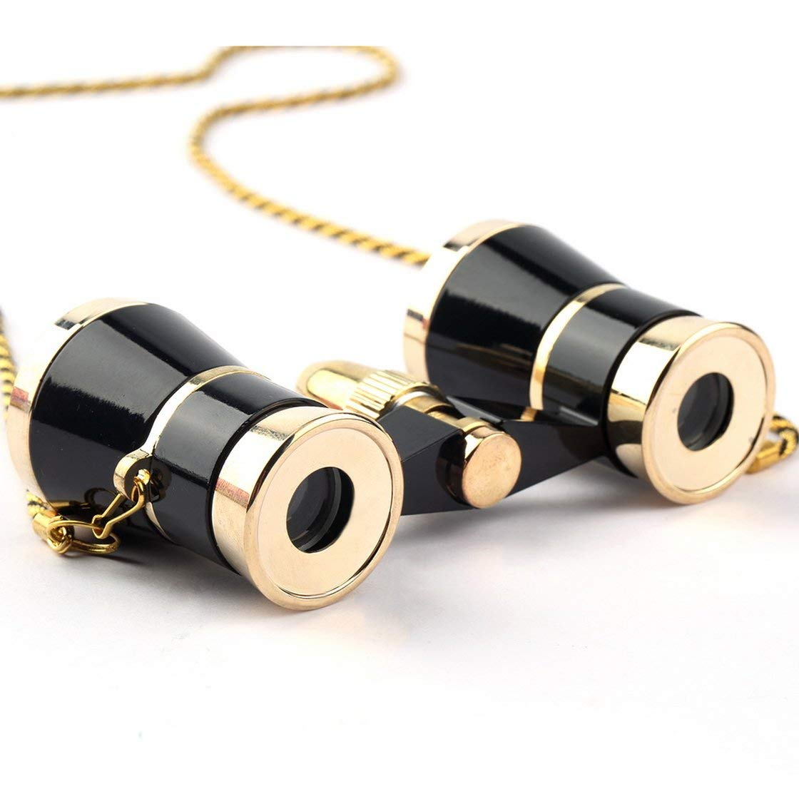 Exquis Noir Or Jumelles Jumelles 3X25 Dame Cadeau T/élescope Op/éra Th/é/âtre Jumelles Optique Lunettes Dop/éra