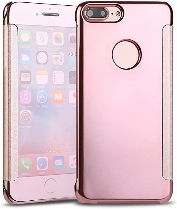 Qissy® Funda Carcasa iPhone 7 Plus - Flip Case PC Ultra ...