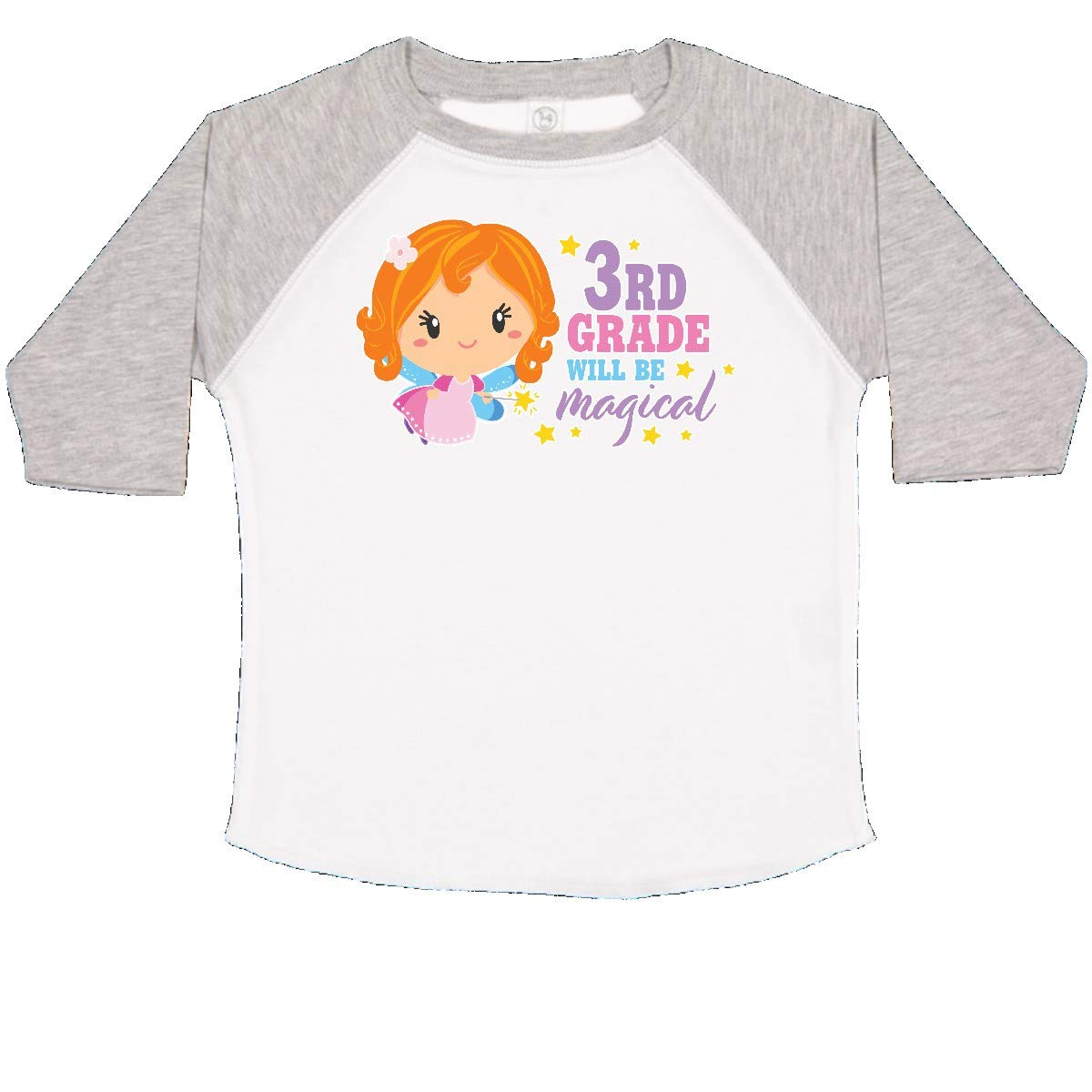 inktastic 3rd Grade Will Be Magical with Red Haired Fairy Toddler T-Shirt