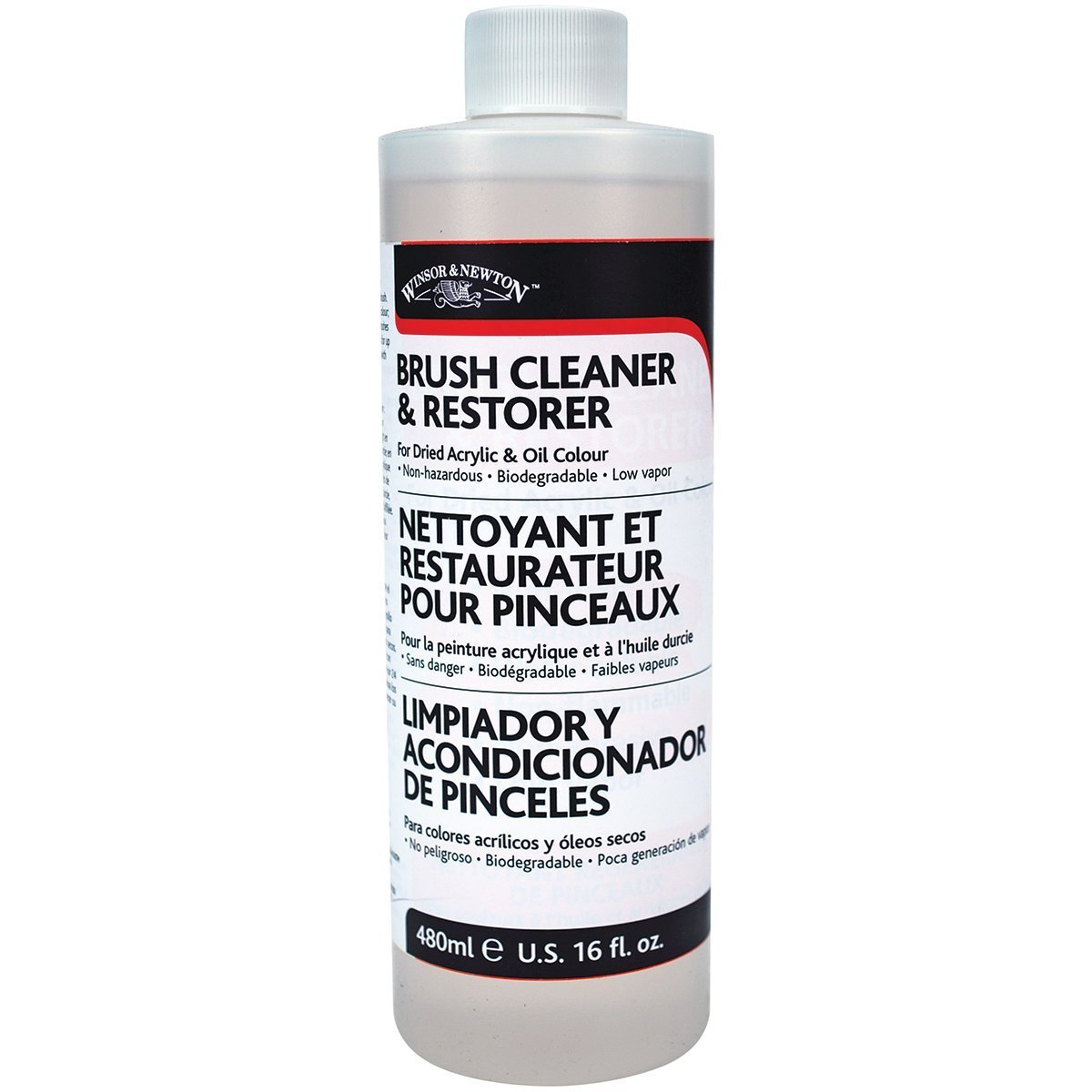 Winsor & Newton Brush Cleaner & Restorer - 16 oz. bottle by Winsor & Newton