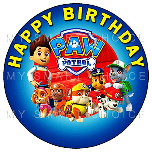 - 7.5 Inch Edible Cake Toppers – Paw Patrol Themed Birthday Party Collection of Edible Cake Decorations