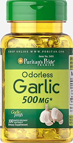 Puritan s Pride Odorless Garlic 500 mg-100 Rapid Release Softgels