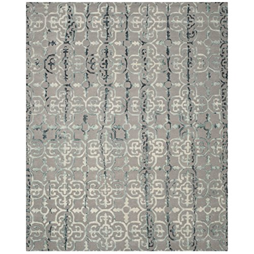 Safavieh DDY711B-9 Dip Dye Collection Handmade Moroccan Geometric Watercolor Wool Area Rug, 9' x 12', Grey/Charcoal
