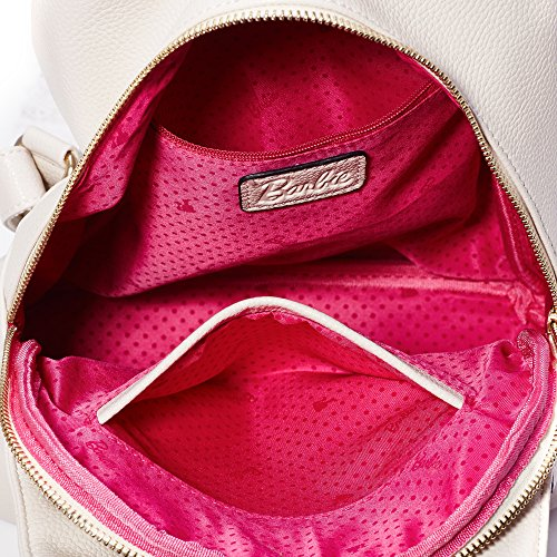 Barbie Mochila de cuero de PU Bolso de hombro para mujer Bolso escolar de Vintage para chicas 2