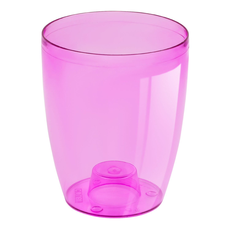 Maceta Maceta orqu/ídea H 18,5 cm COUBI transparente rosa olla
