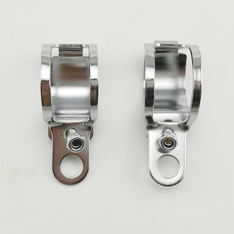 HANSWD 1pair Metal Motorcycle Modified Turn Signal Light Indicator Mount Bracket Clamp 30-45mm Black