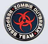 zombie chrome emblem - Zombie outbreak Responce team Emblem domed decal on chrome Bike Motorcycle Car