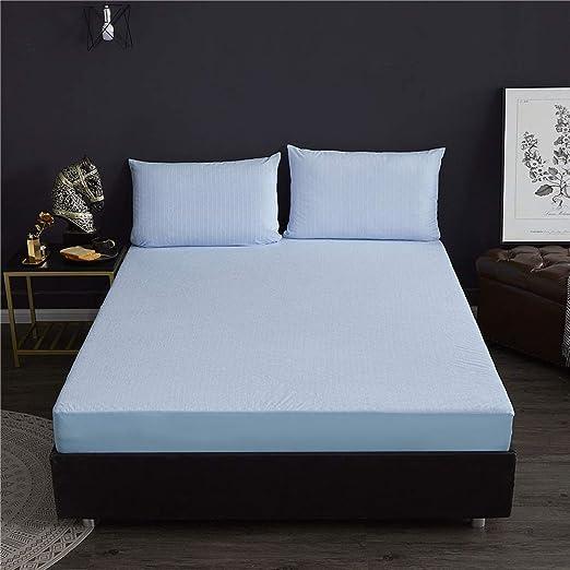 suxiaopei Toalla de algodón sábanas antibacterianas Impermeables antiácaros Que impregnan el Juego de sábanas 180x200 de Alto 30 cm de una Sola Hoja Azul: Amazon.es: Hogar