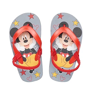 0ecbb17e0ee5 Image Unavailable. Image not available for. Color  Disney Mickey Mouse  Toddler Boys  Red Thong Flip Flop ...