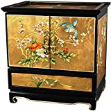 Oriental Furniture Empress Lacquer Jewel Box (Gold Leaf)