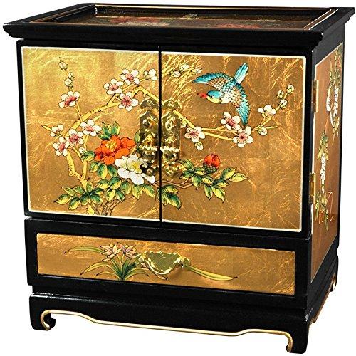Oriental Furniture Empress Lacquer Jewel Box (Gold Leaf) (Japanese Miniature Furniture Garden)