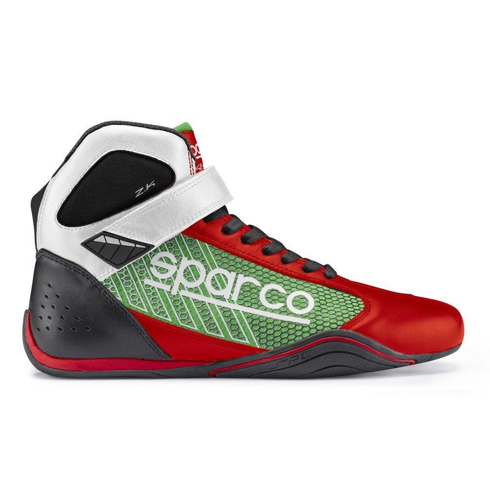 Sparco 00125746RSVD Botines para Karting, Rojo/Verde, 46 S00125746RSVD