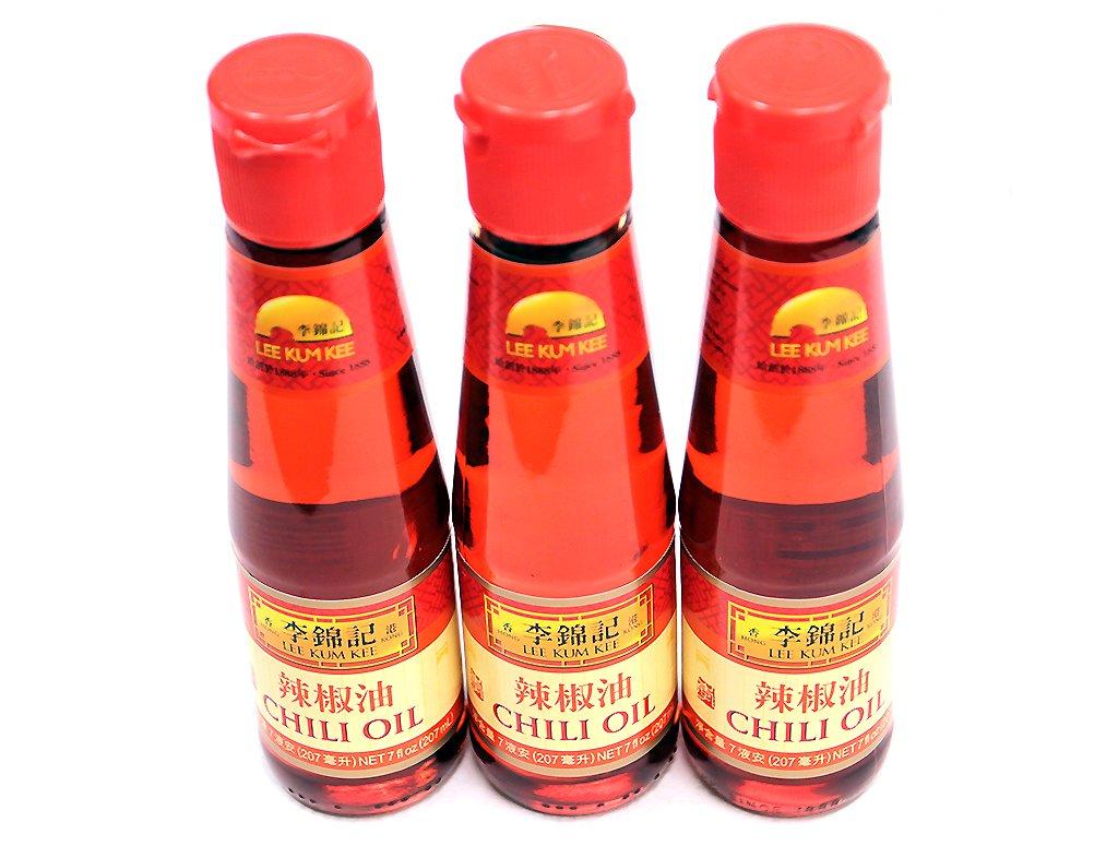 Lee Kum Kee LKK Chili Oil 7 fl oz (Pack of 3)