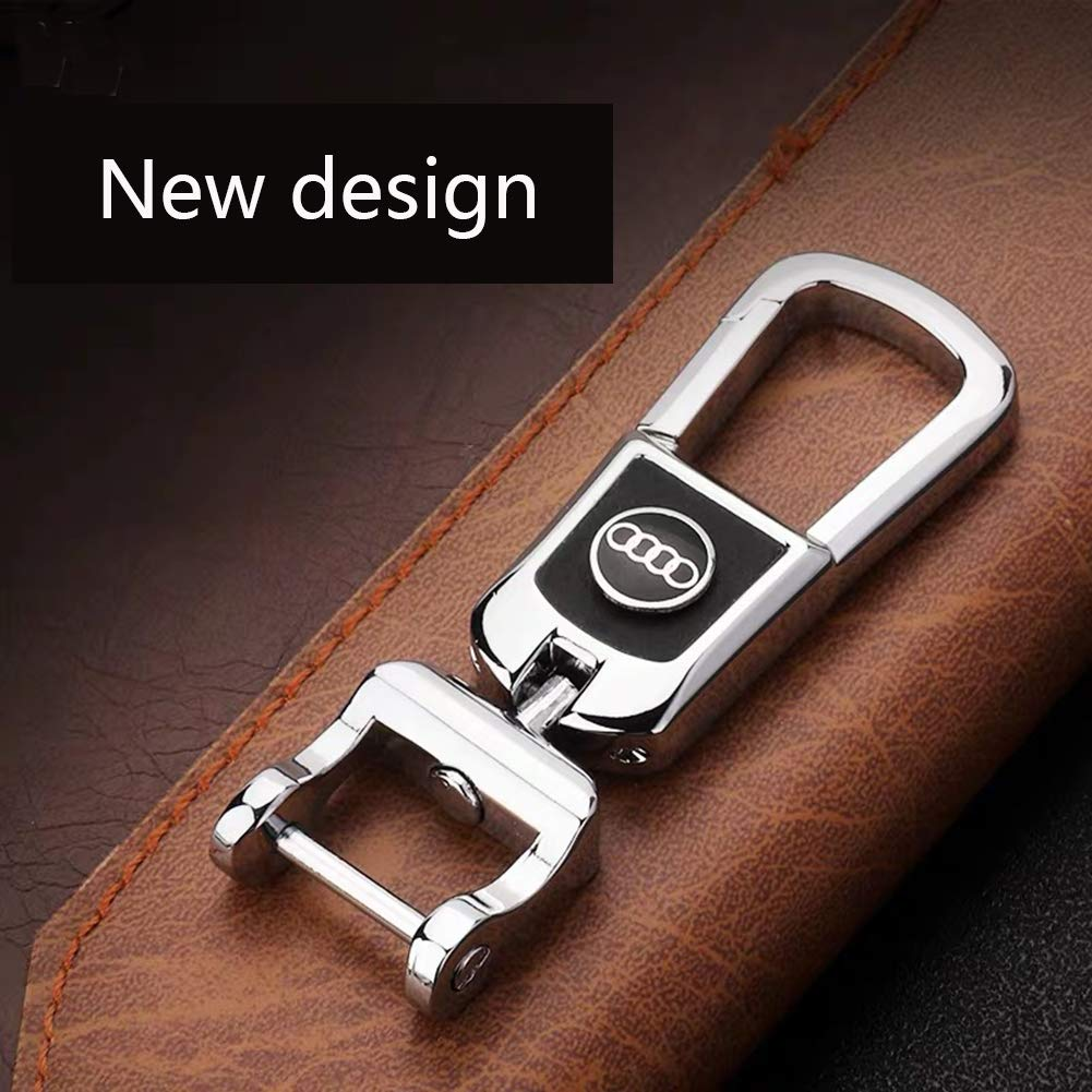 MAXMILO Genuine Leather Car Logo BMW Key Chain Stainless Steel Keychain for BMW Key Ring Accessories for BMW